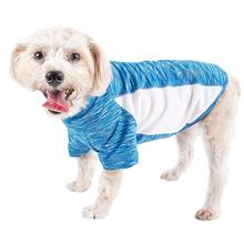 Pet Life ACTIVE 'Warf Speed' Performance Dog T-Shirt - Blue Heather