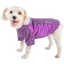 Pet Life ACTIVE 'Warf Speed' Performance Dog T-Shirt - Purple Heather