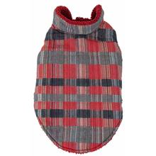 Pet Life Scotty Tartan Classical Plaid Insulated Dog Coat - Red