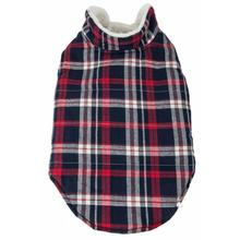 Pet Life Puddler Classical Plaid Insulated Dog Coat - Black and Red