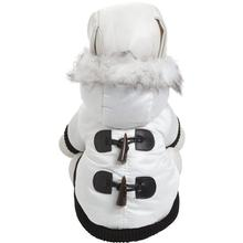 Pet Life Aspen Winter White Fashion Parka Dog Coat