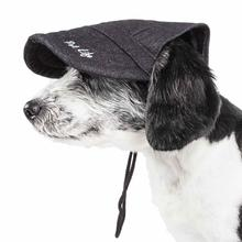 Pet Life Cap-tivating UV Protectant Dog Hat Cap - Faded Black