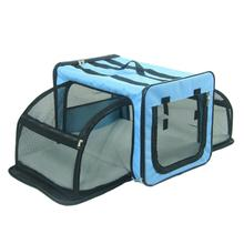 Pet Life Capacious Dual-Sided Expandable Dog Carrier - Blue