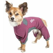 Pet Life Dog Helios Rufflex Medium Weight Performance Warmup Dog Tracksuit - Pink