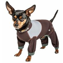 Pet Life Dog Helios Tail Runner Lightweight Dog Tracksuit - Brown