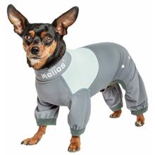 Pet Life Dog Helios Tail Runner Lightweight Dog Tracksuit - Gray