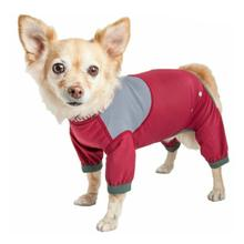 Pet Life Dog Helios Tail Runner Lightweight Dog Tracksuit - Red