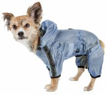 Pet Life Dog Helios Torrential Shield Full Bodied Windbreaker Dog Raincoat - Royal Blue
