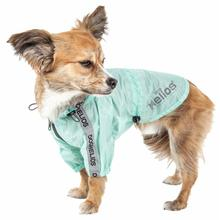Pet Life Dog Helios Torrential Shield Windbreaker Dog Raincoat - Aqua Blue