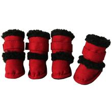 Pet Life 'Duggz' 3M Insulated Winter Fashion Dog Booties - Red and Black