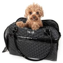 Pet Life Exquisite Airline-Approved Designer Travel Dog Carrier - Black
