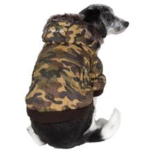 Pet Life Fashion Pet Parka Dog Coat - Forest Camouflage