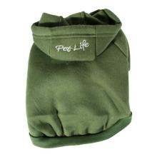 Pet Life Fashion Plush Dog Hoodie - Green