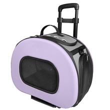 Pet Life 'Final Destination' 2-in-1 Tough-Shell Wheeled Travel Dog Carrier - Purple