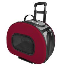 Pet Life 'Final Destination' 2-in-1 Tough-Shell Wheeled Travel Dog Carrier - Red