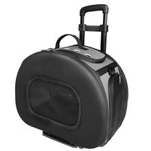 Pet Life 'Final Destination' 2-in-1 Tough-Shell Wheeled Travel Dog Carrier - Black