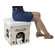 Pet Life 'Kitty Kallapse' Foldable Designer Cat House Furniture Bench