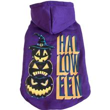 Pet Life LED Lighting Halloween Snowman Dog Hoodie - Purple