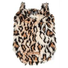 Pet Life Luxe 'Lab-Pard' Leopard Mink Fur Dog Jacket