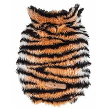 Pet Life Luxe Tigerbone Tiger Mink Fur Dog Coat