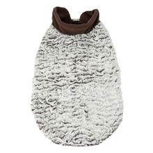 Pet Life Luxe Purrlage Mink Fur Dog Coat - White and Brown