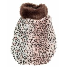 Pet Life Luxe Furracious Cheetah Mink Fur Dog Coat - Light Pink, Black and Brown