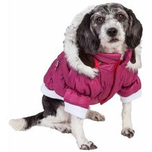 Pet Life Metallic Ski Parka Dog Coat - Pink