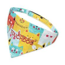 Pet Life Touchdog Head-Popper Dog Bandana - Yellow/Blue