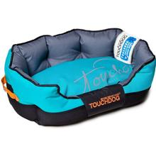 Pet Life Touchdog Performance-Max Sporty Reflective Water-Resistant Dog Bed - Sky Blue