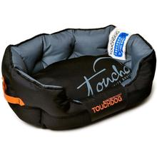 Pet Life Touchdog Performance-Max Sporty Reflective Water-Resistant Dog Bed - Black
