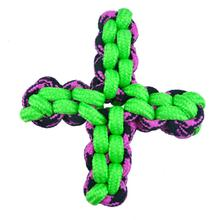 Pet Park Blvd Paracord Rope Twisted Quad X Dog Toy - Green