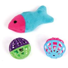 Pet Park Blvd Plush Fish & Lattice Balls Cat Toys