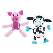 Pet Park Blvd Tossers Dog Toys - Cow & Pig