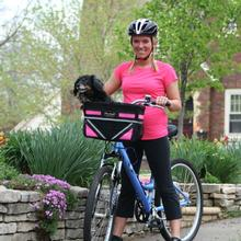 Pet-Pilot Bike Basket For Dogs & Cats - Neon Pink