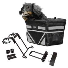 Pet-Pilot Bike Basket For Dogs & Cats - Silver