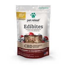 Pet Releaf Hemp Oil Edibites Dog Treats - Blueberry & Cranberry Immunity Boost