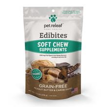 Pet Releaf Edibites Soft Chew Dog Treats - Peanut Butter and Carob Swirl