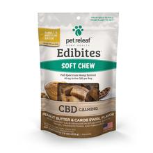 Pet Releaf Hemp Oil Edibites Dog Treats - Peanut Butter & Carob Swirl for Calming