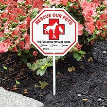 Pet Rescue Garden Sign