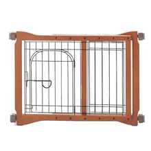 Wood Pet Sitter Gate - Autumn Matte