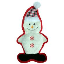 PetLou Christmas Bite Me Plaid Dog Toy - Snowman