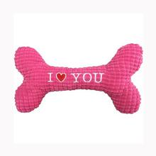PetLou I Love You Bone Dog Toy - Pink