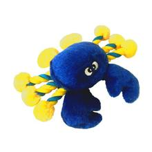 PetLou Crab Plush Rope Dog Toy - Blue