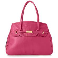 Petote Katie Genuine Leather Dog Carrier Handbag - Rose Grenadine