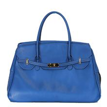 Petote Katie Genuine Leather Dog Carrier Handbag - Cobalt Blue