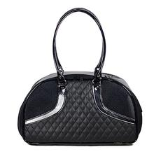 Petote Roxy Quilted Luxe Dog Carrier Handbag - Black