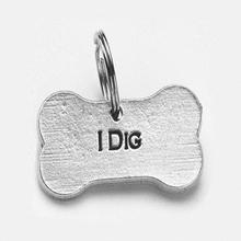 Pewter Dog Collar Charm: I Dig