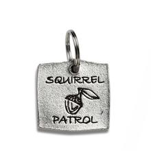 Pewter Dog Collar Charm or Cat Collar Charm: Squirrel Patrol