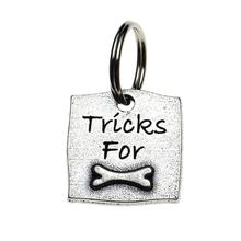 Pewter Dog Collar Charm: Tricks For Bones