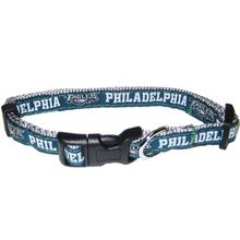 Philadelphia Eagles Officially Licensed Dog Collar - Silver Trim